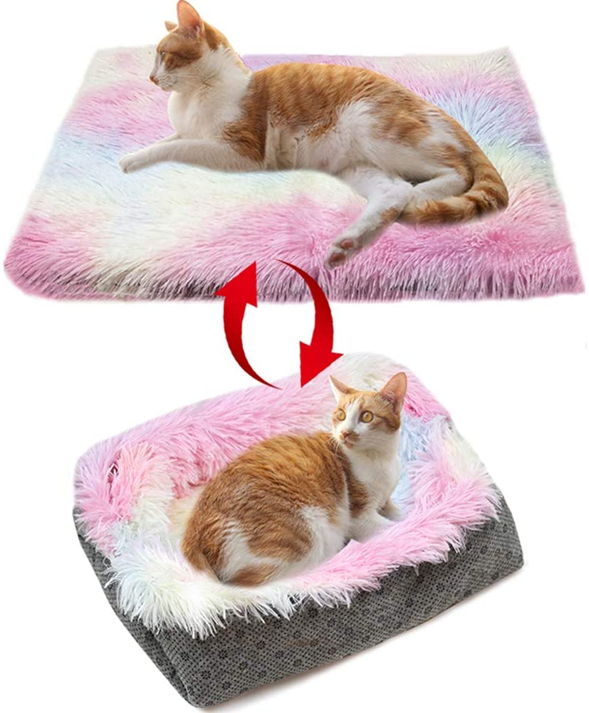 cat bed for larger cat with 2 ways to use it.