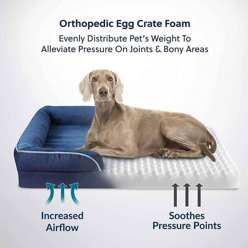 bedsure orthopedic egg crate foam
